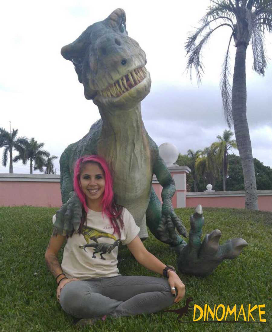 Our beautiful customer and her raptor suit