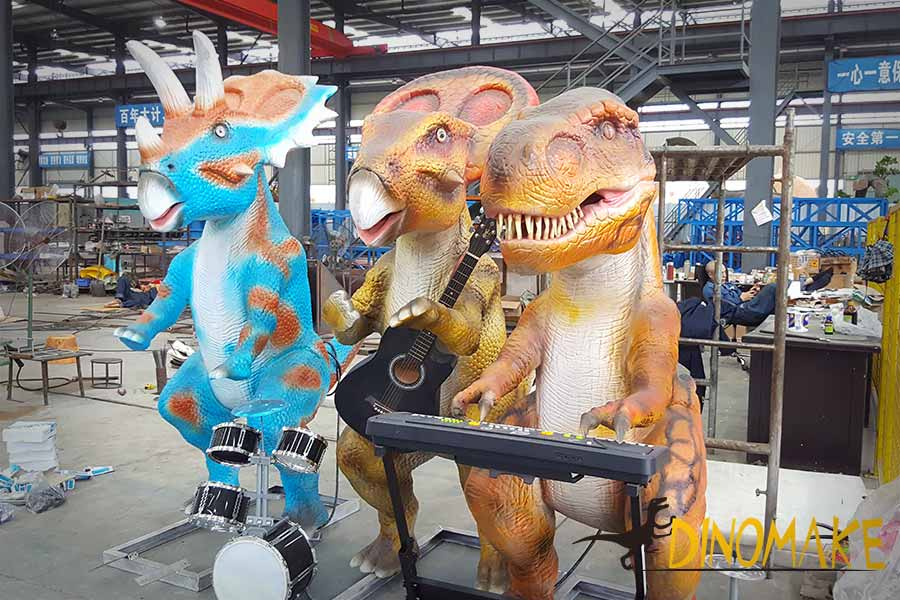 animatronic dinosaur band