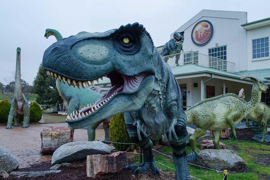 Fiberglass t-rex for home decoration