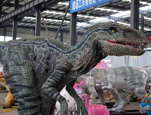 New Material Hidden Leg Velociraptor Suit