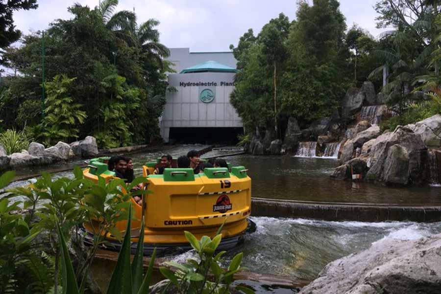 Jurassic Park rapid adventures boat