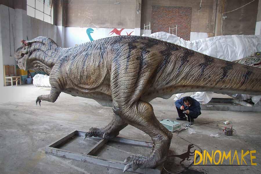 realistic t-rex statue