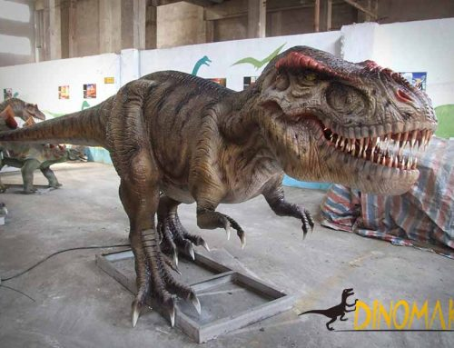 realistic t-rex statue for amusement park