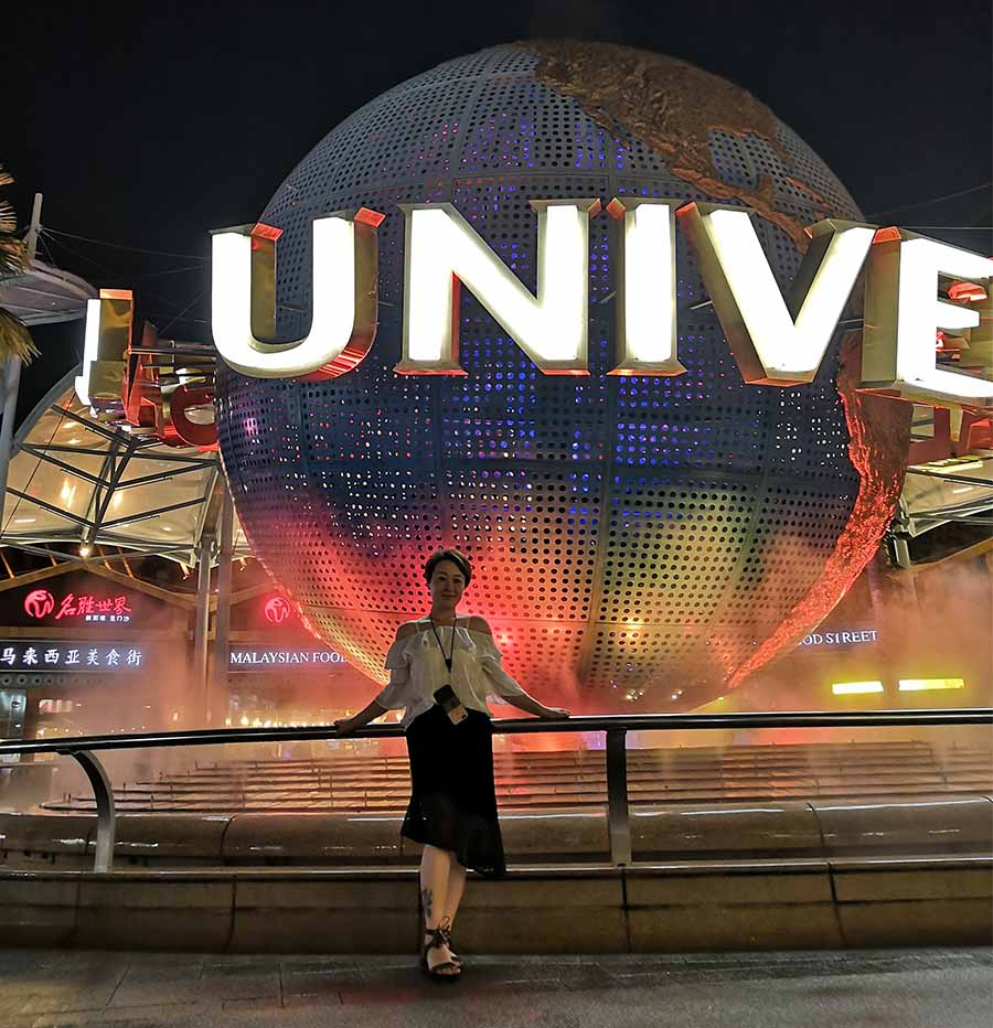 The earth statue of universal studio