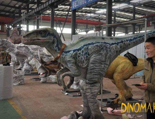 Velociraptor Costume Hidden Leg