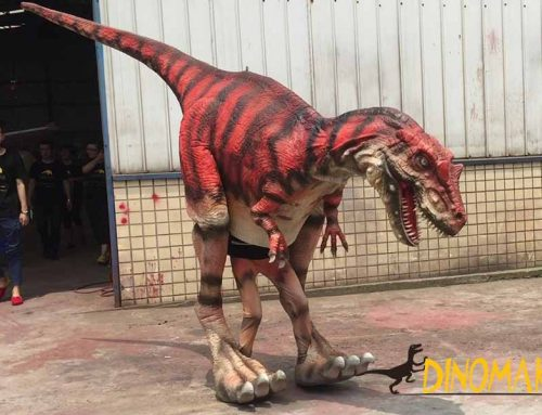 Lifelike Allosaurus Dinosaur Costume For Sale