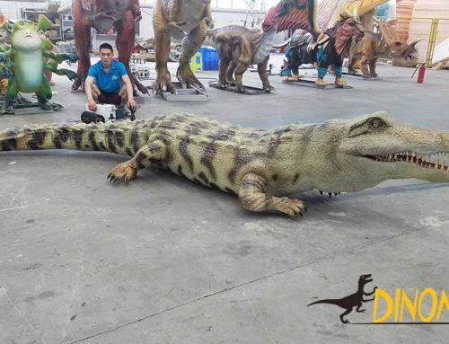Life-size  Animatronic Alligator Statue For Amusement Park