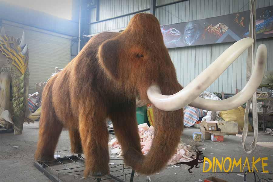 animatronic mammoth statue