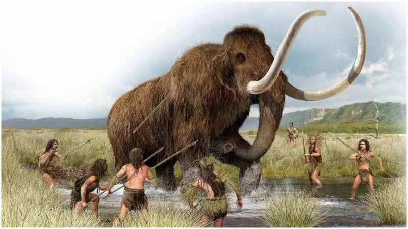 human-are-hunting-mammoth