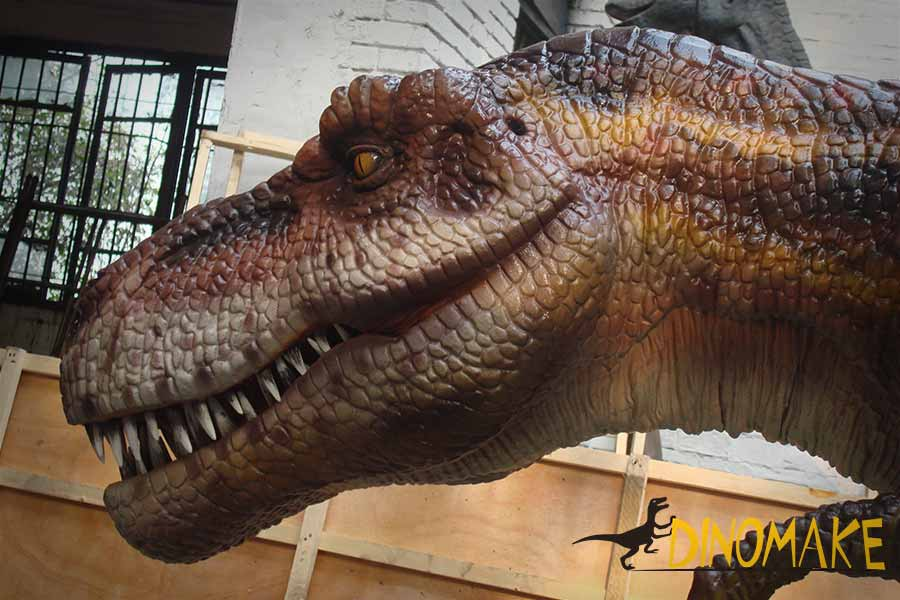head of the jurassic park t rex statue