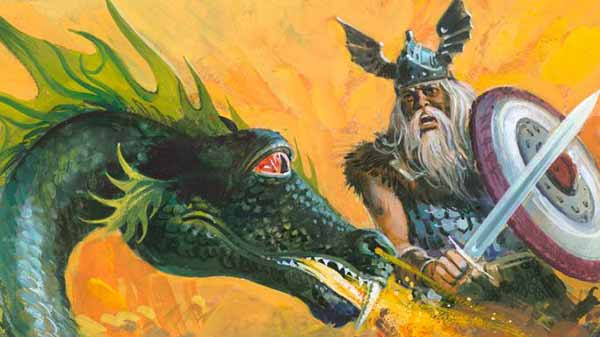 Beowulf and dragon