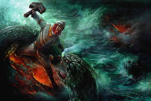 Thor-and-Jormungandr