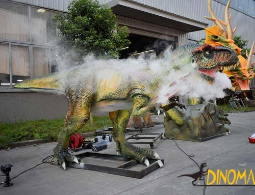 Does the animatronic dinosaur have any other drivers besides electric motor?