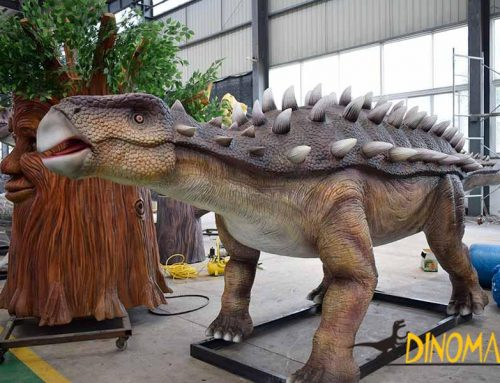 How long does it usually take to customize an animatronic dinosaur?