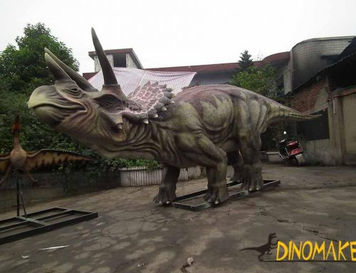 What's the application of animatronic dinosaurs?