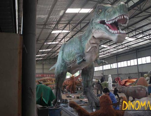 What's the role of an animatronic dinosaur exhibition?