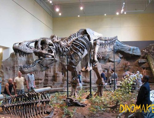 Fossil Fabrication Technology of Realistic Dinosaur Skeleton