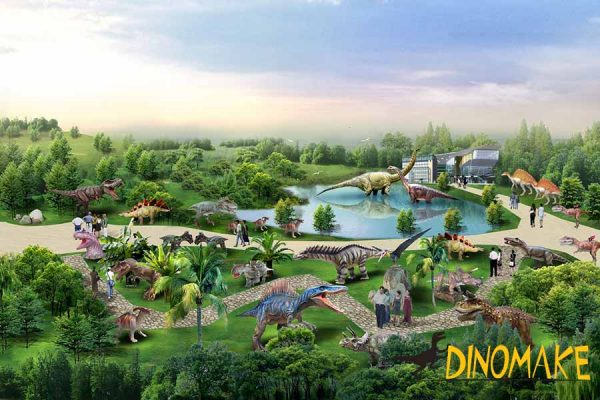 dinosaur park graphic draft