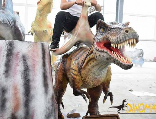 Animatronic dinosaur ride bring you a lot of fun