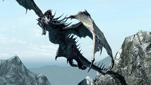 dragon-in-Skyrim