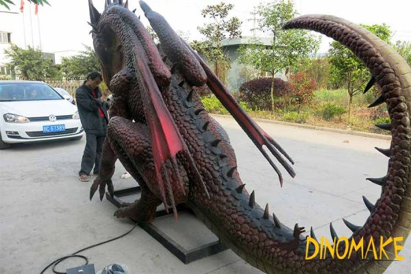 large dragon statues