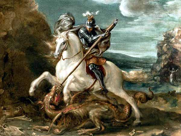 oil-paint-Saint-George-And-The-Dragon
