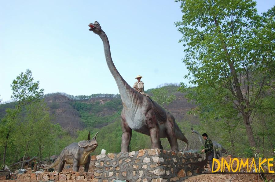Animated Dinosaur Recreational Facilities on display