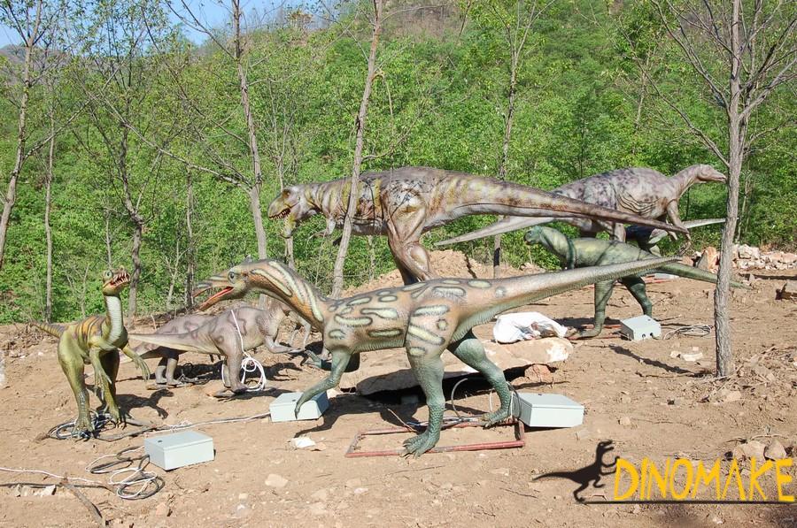 Animated Dinosaur in Africa