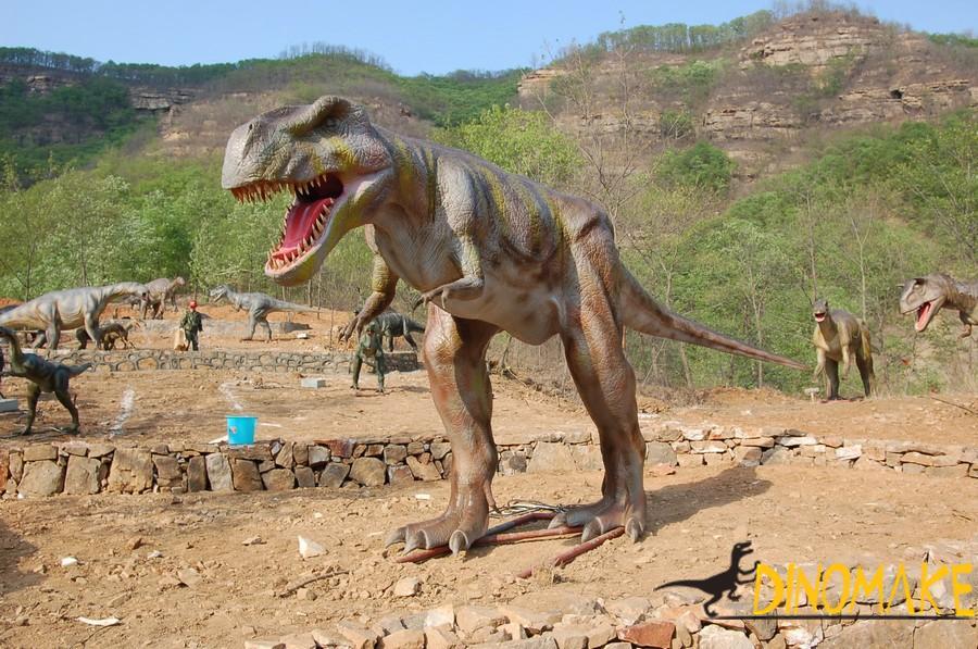 Animated dinosaur in Japan