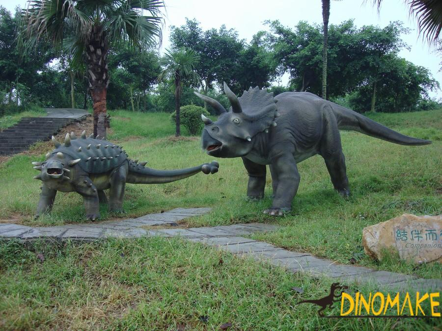 Animated dinosaurs in the Jurassic Park