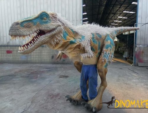 Jurassic World Simulation Model Realistic Animatronic Dinosaur Costume in Denver