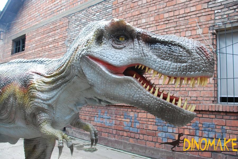 Animatronic dinosaur at the factory