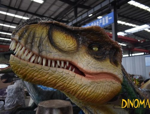 Animatronic dinosaur factory is producing T-Rex