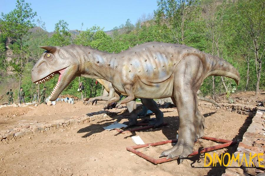 Animatronic dinosaur in China