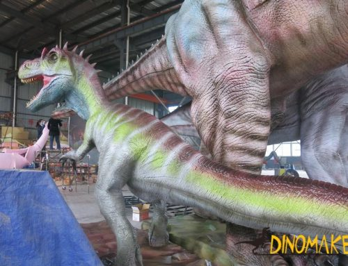 Real fossil restoration Animatronic dinosaur thief dragon