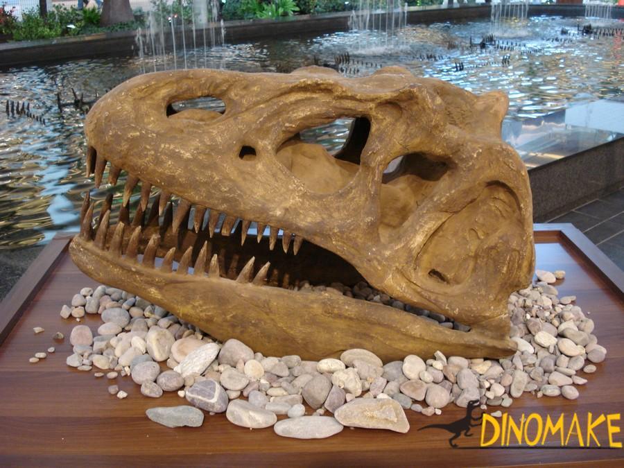 Animatronic dinosaur skeleton of park