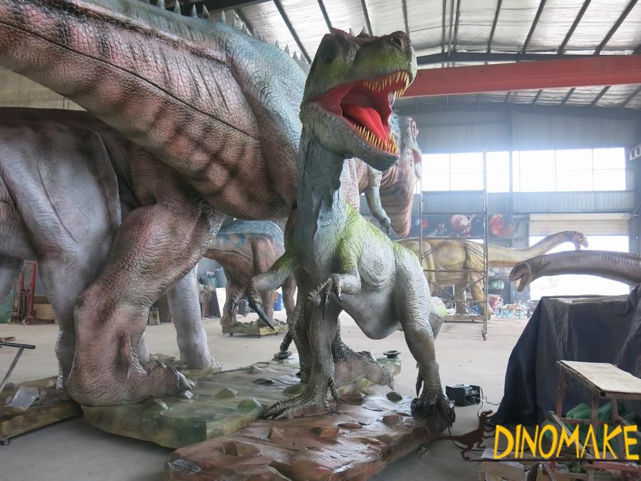 Animatronic dinosaur thief dragon