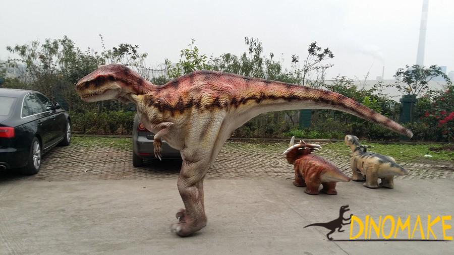 Artificial hand operated realistic dinosaur costume