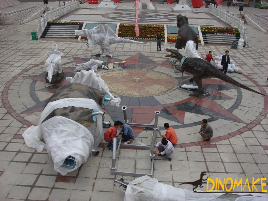 Children's play park Animatronid dinosaur