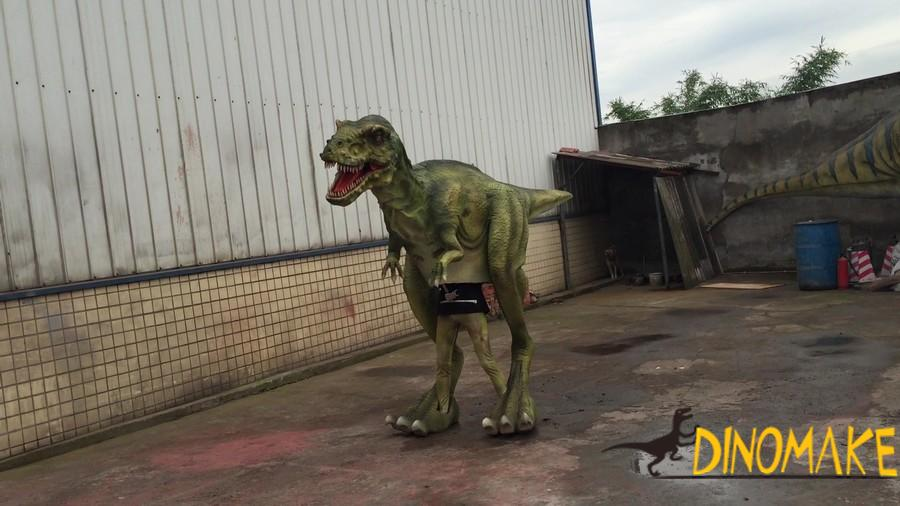 Customized realistic dinosaur costume