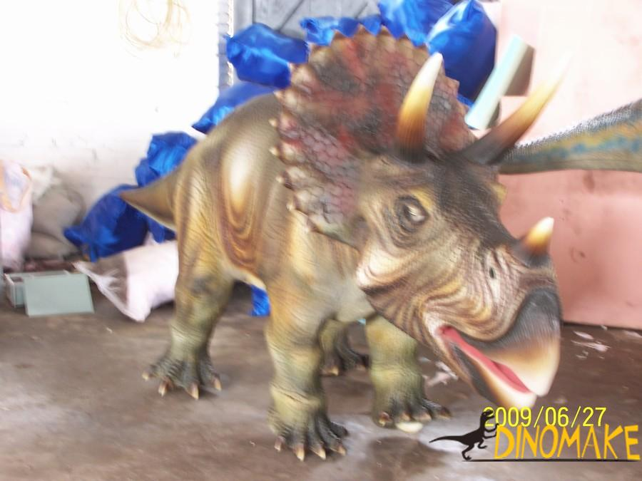 Customized set of animated dinosaur triceratops