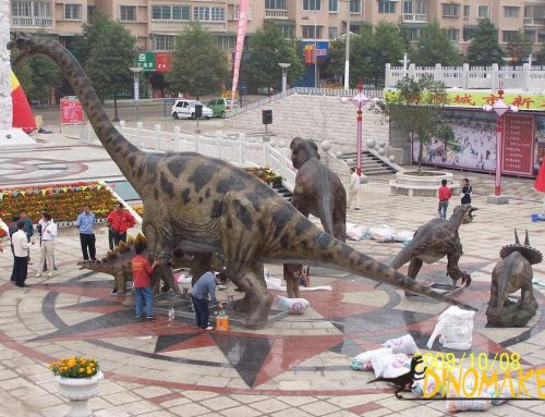 Geological park Animatronic Dinosaur sculpture