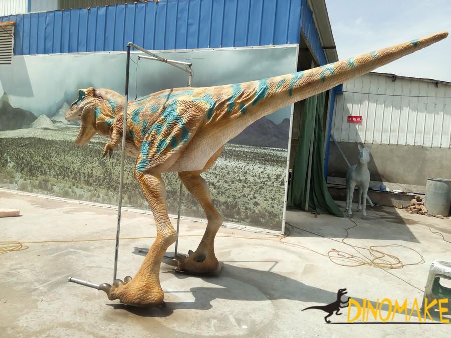 Interacting with Animatronic dinosaur costume