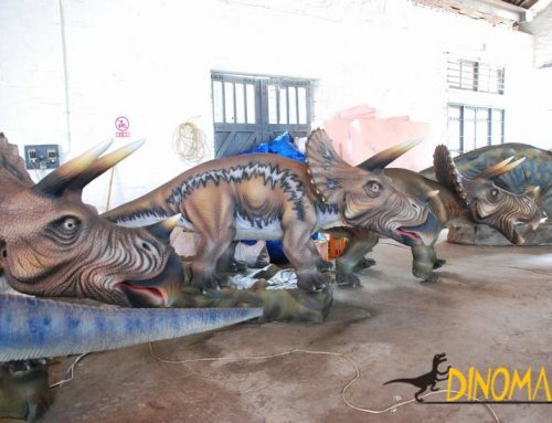 Customized set of Animatronic dinosaur triceratops