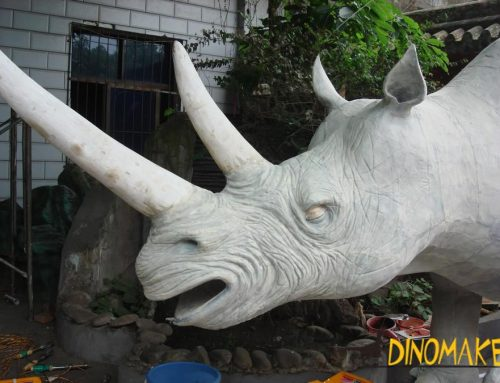 Making a Animatronic rhinoceros for a US customer