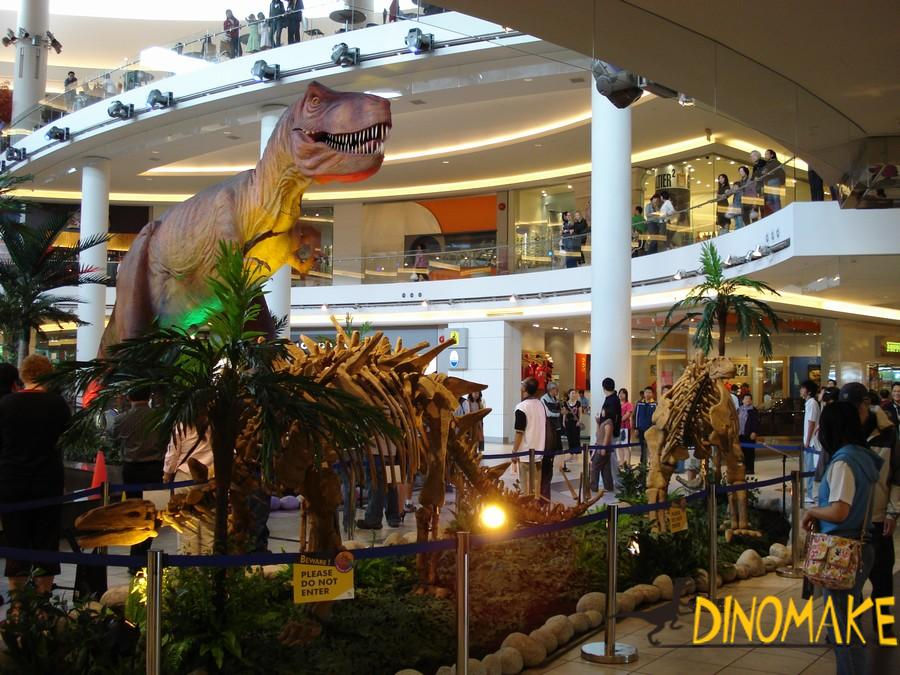 Outdoor life-size Animatronic dinosaur