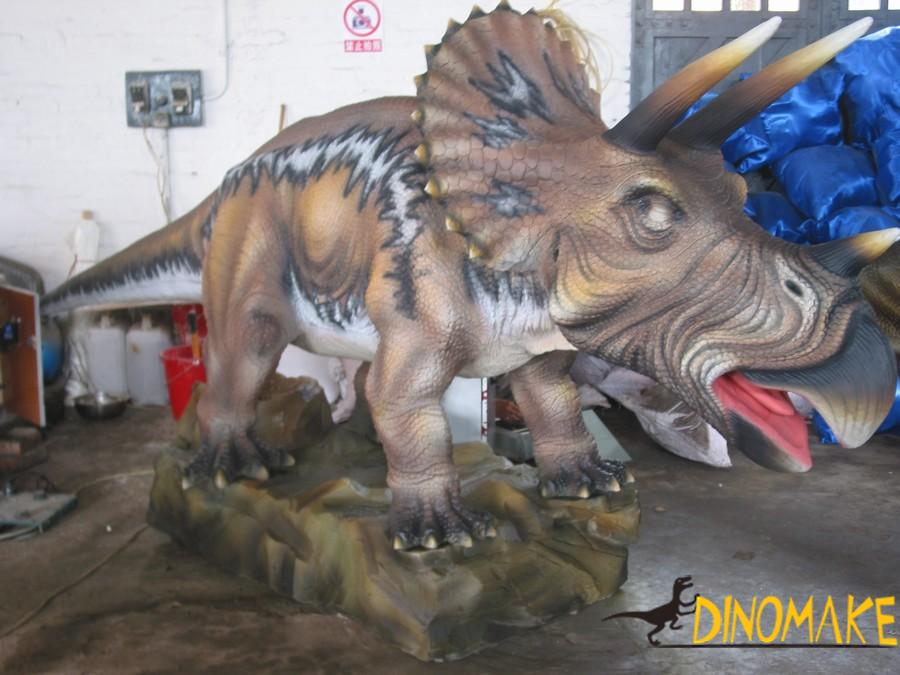 Outdoor static Animatronic dinosaur sculpture for sale