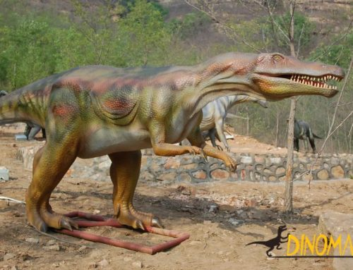 Production process of life-size animatronic dinosaur model