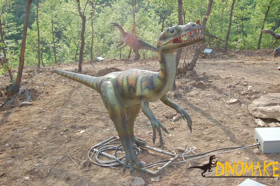 Production process of life-size animatronic dinosaur