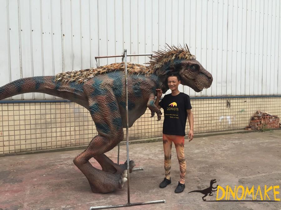 Realistic Size Simulation Animatronic Dinosaur Costume Model